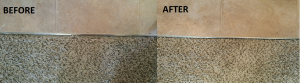 professional carpet repair before & after