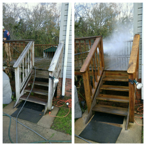 Check out our pressure washing project at Mike's residence using our two part cleaning solution that not only kills / removes the mold and algae build up but also inhibits its growth
