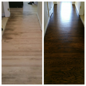 wood floor refinishing charlotte nc before & after