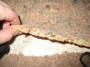 old carpet padding