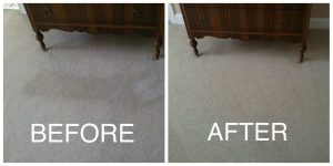 Check out this carpet cleaning and stain removal we did for one of the Keller Williams' Realtors.