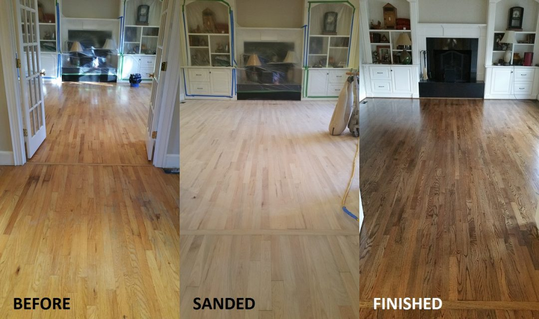 Hardwood Floor Refinishing Charlotte Before Amp After Wesinton Home