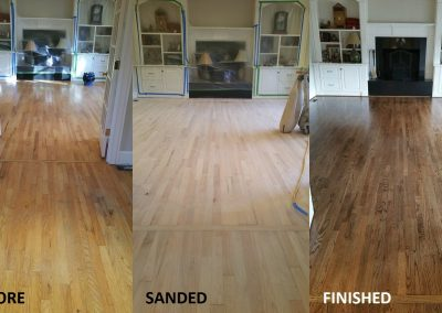 Mr. Wesinton's Hardwood Floor Refinishing Project!